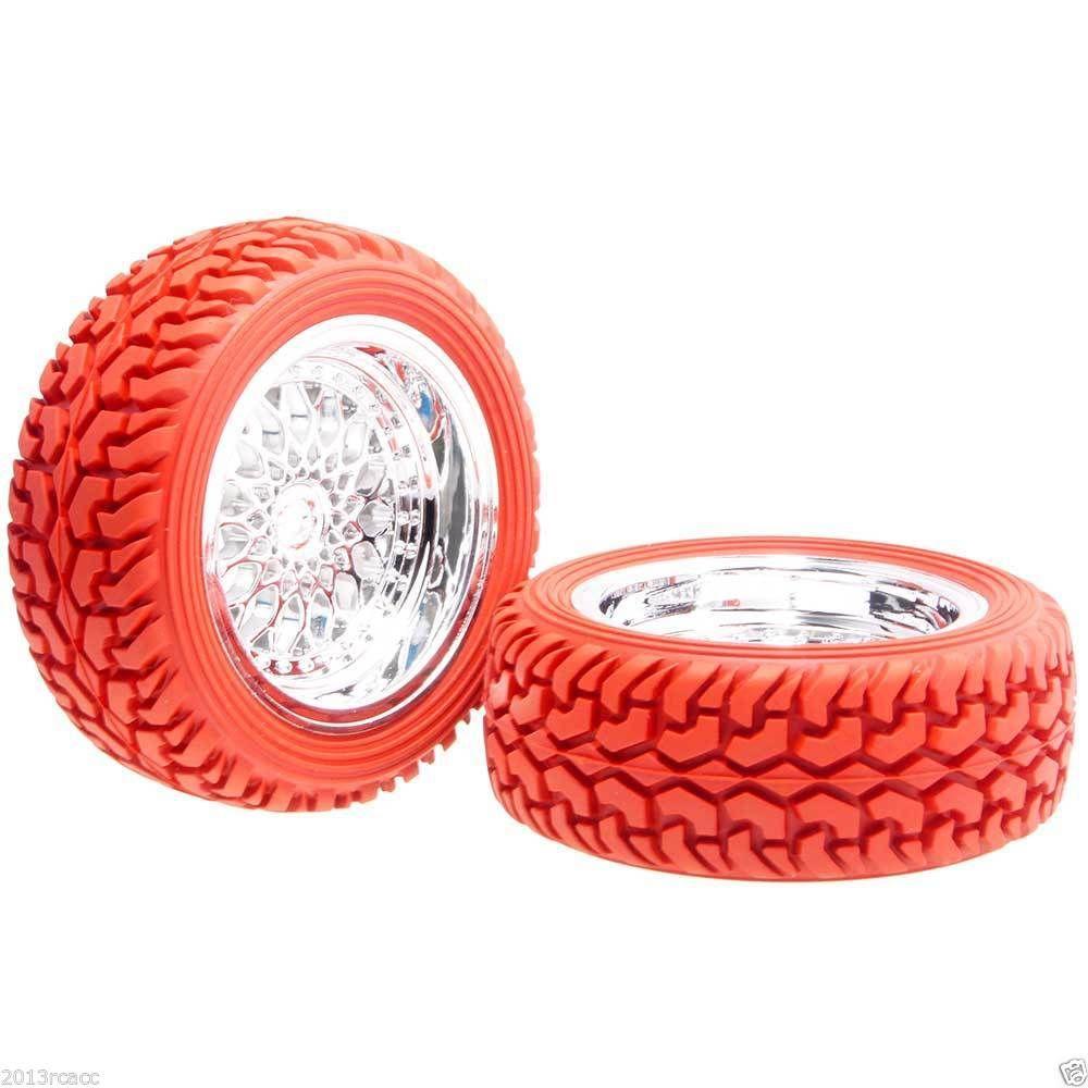 Offset cerchio ruota RC HSP 2084-8019: pneumatico da rally 9mm rosso per auto da rally su strada 1:10