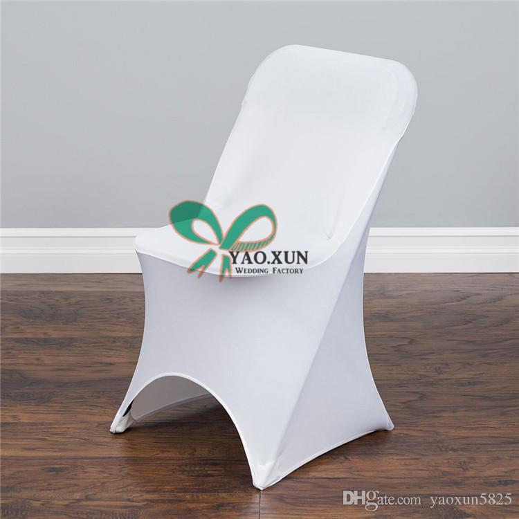 İyi Görünümlü Düğün Spandex Sandalye Örtüsü Katlanır Sandalyeler İçin Uygun