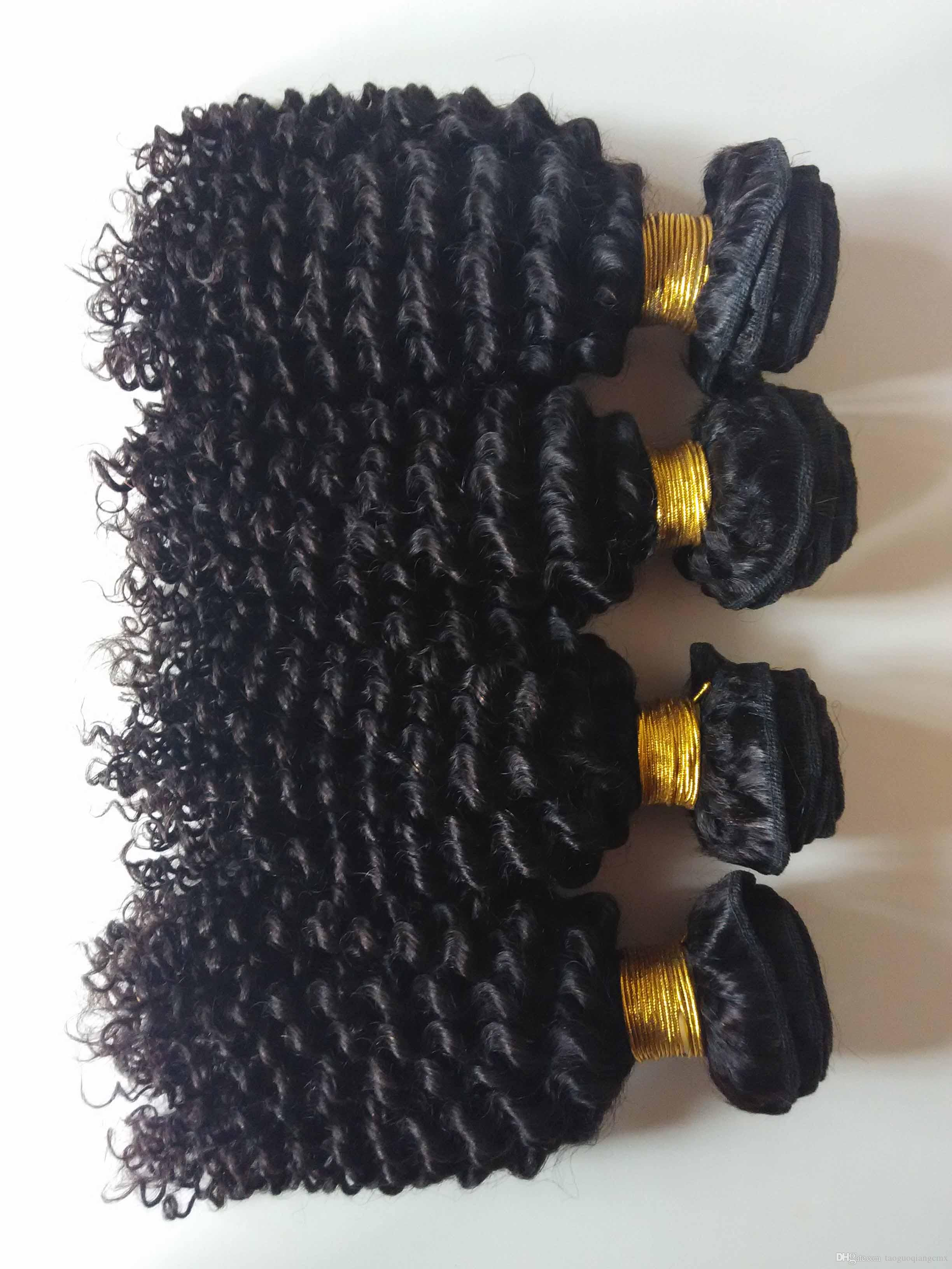 Unprocessed Brazilian virgin human hair weft beauty kinky curly hair extensions for African American hair 3 4 5pcs/lot double weft DHgate