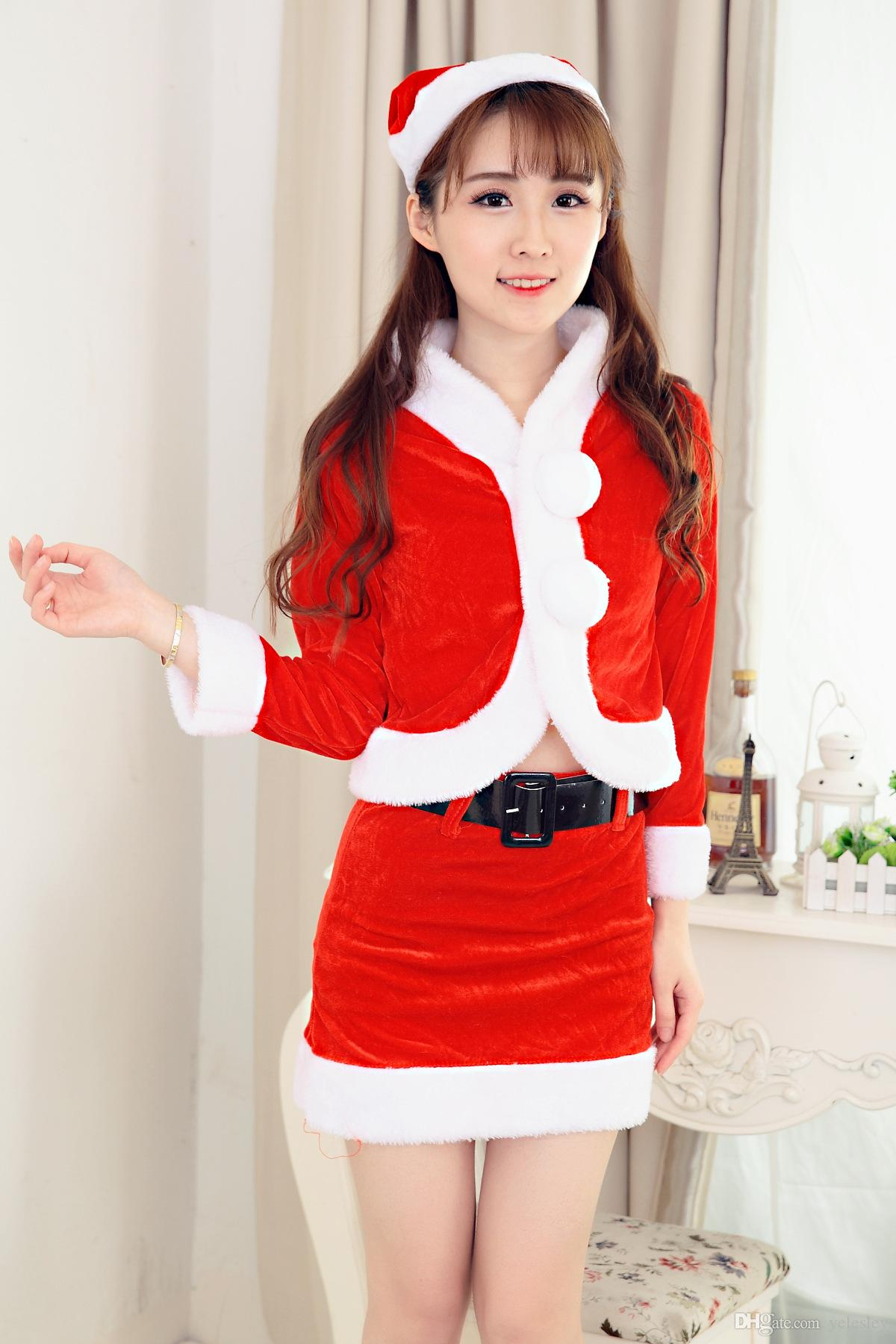 New Mascot Women Christmas Dress Sexy Women Christmas Dress Costumes Santa Claus For Adults for Christmas