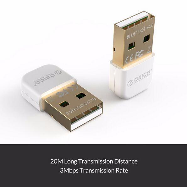 ORICO BTA-403 USB Bluetooth Adapter 4.0 Tragbarer Bluetooth 4.0 Adapter für Win 7/8/10 / Vista Mini Bluetooth 4.0 USB-Adapter