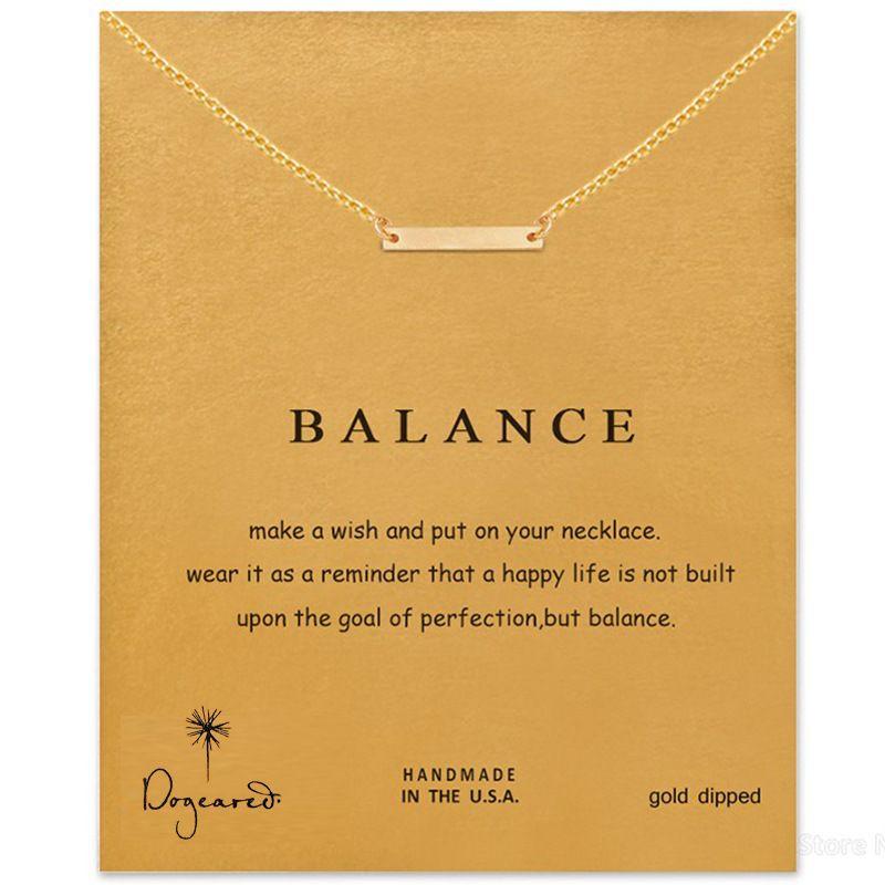 Collana di corde bilanciate dogeared Choker nobile e delicato per le donne Gioielli ciondolo moda San Valentino regalo di Natale