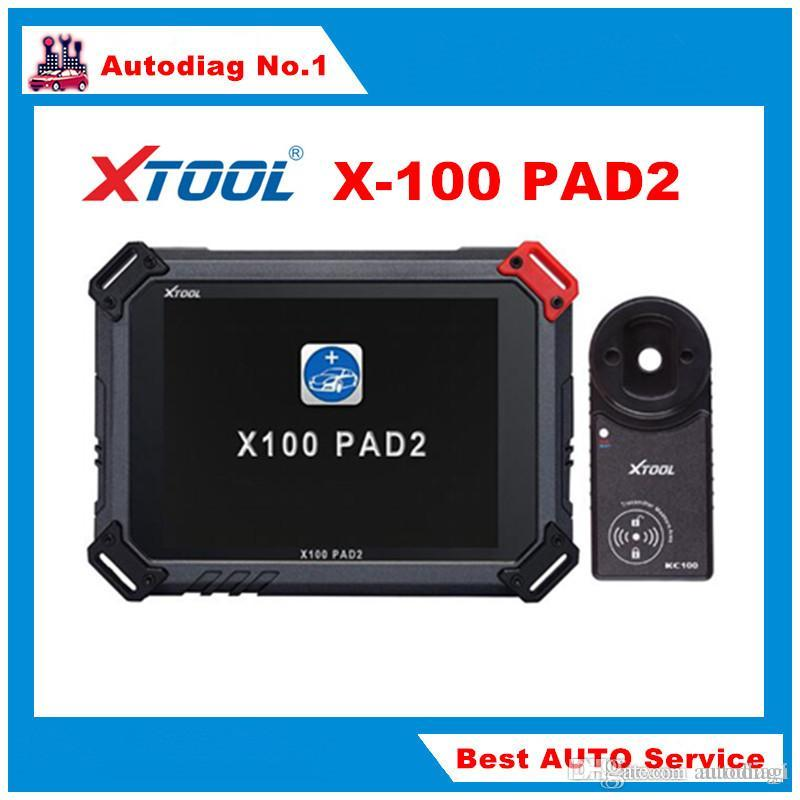 Original XTOOL X100 PAD2 with 4 and 5 IMMO Auto Diagnosis Key Copy OilRst Odometer TPMS TPS X-100 PAD 2 Better than X300 PRO3