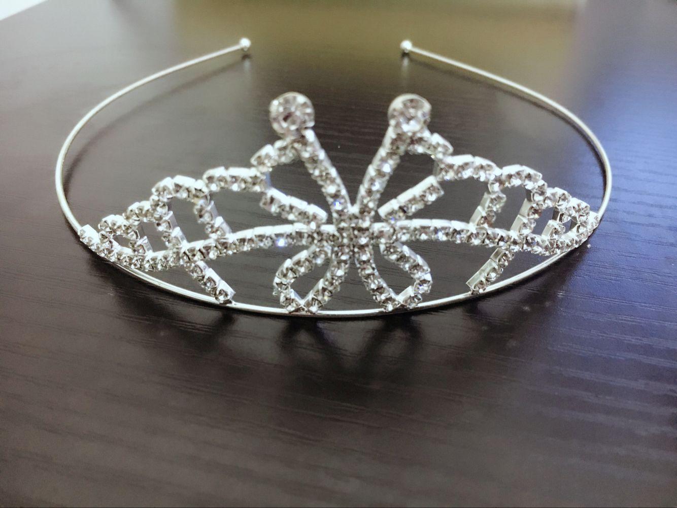 Cristales Coronas de la boda Sparkle Beaded Crystal Veil Tiara Crown Diadema Accesorios para el cabello Fiesta de la boda Tiara Hair