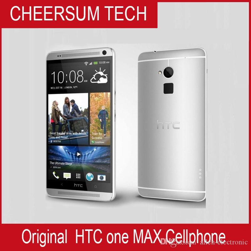 Oryginalny HTC One Max Odblokowany Telefon komórkowy Quad-Core 2 GB RAM 32GB ROM 5.9 '' Dotychowy ekran dotykowy Android Darmowa Wysyłka