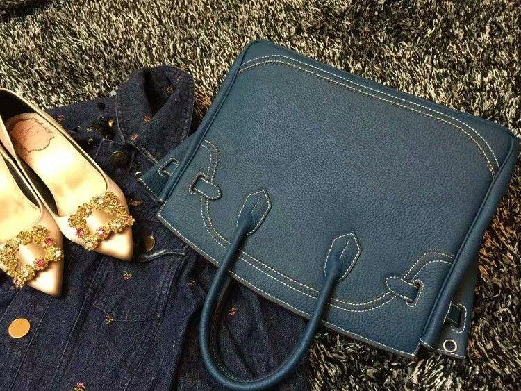 2016 Luxury H Handbag Women\`s Litchi Cowhide Messenger Bag Genuine Leather Famous Designer Shoulder Crossbody Totes Ladies Bolsa (24)