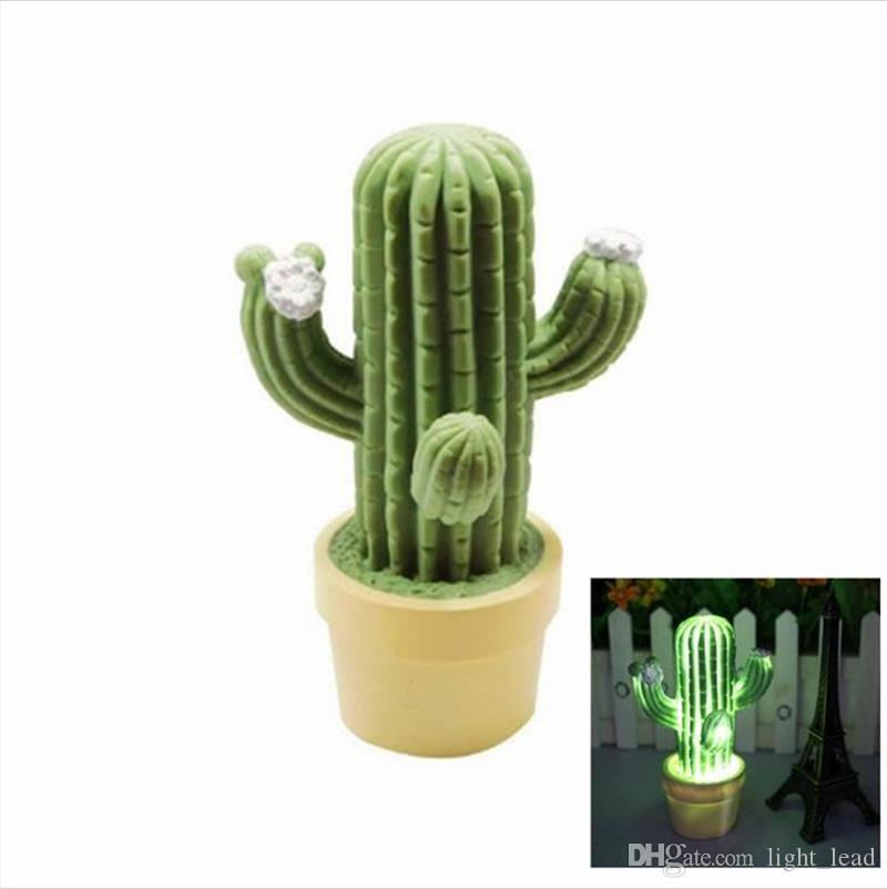 2019 Cute Kids From Novelty lead3 Lamp Bedroom Gift Lighting Children LED Decoration 62 Light Table Night Lights Bedsdie Light Night Cactus WrCxBdoe