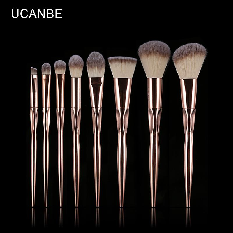 Make-up Pinsel Set Ucanbe Marke 8 Stück Rose Gold Make-up Pinsel Kit Pro persische Wolle Lidschatten erröten Foundation Contour Powder