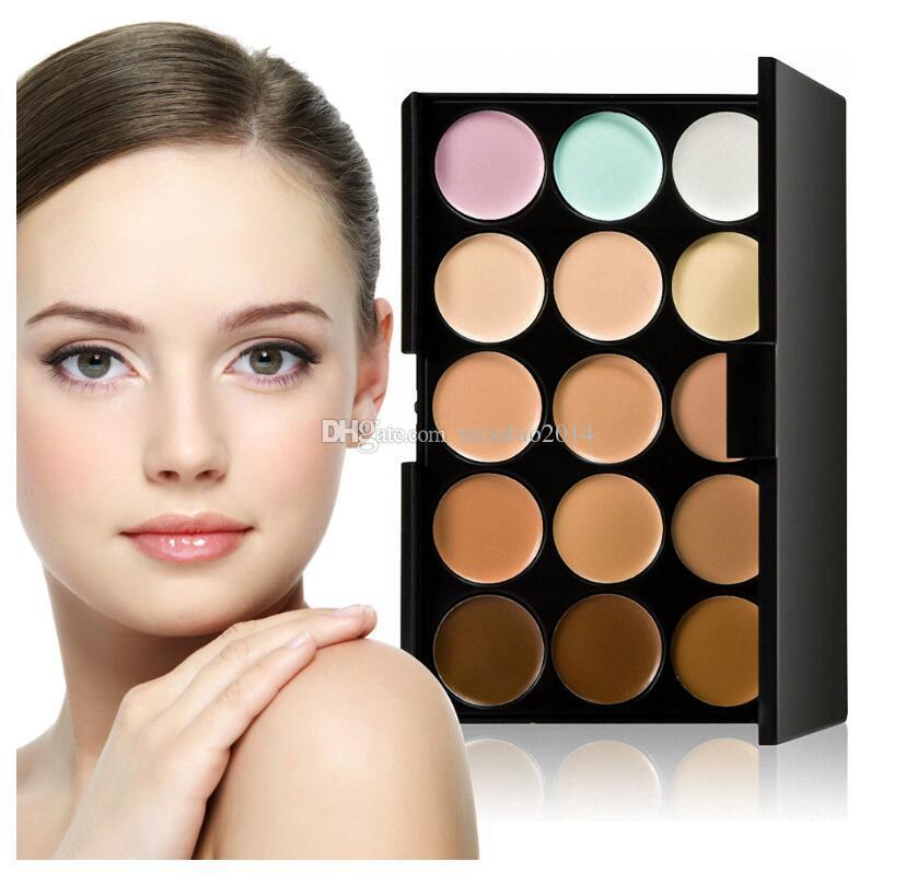 Paleta de corrector profesional 15 colores Crema de rostro facial Cuidado base de maquillaje de camuflaje Paletas cosméticas con regalo Vía DHL / FEDEX / UPS / TNT