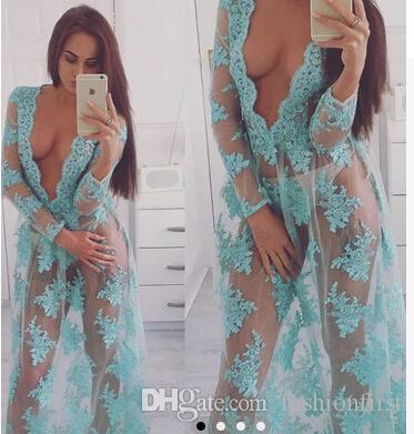 see through lace dress