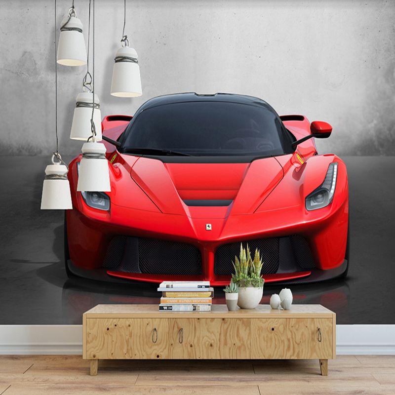 Benutzerdefinierte Jede Größe 3D Sportwagen Poster Fototapete Wohnzimmer Studie Schlafzimmer TV Hintergrund Wandbild Tapete De Parede 3D
