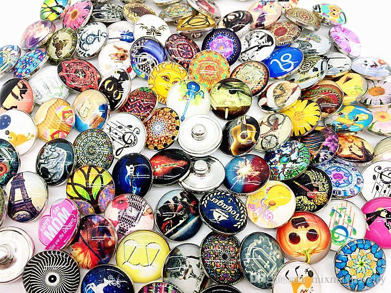 ingrosso assortiti mix 50 pezzi di vetro Ginger 18mm noosa Scatta pezzi di fascino bottoni pulsanti per bracciali fai da te collane