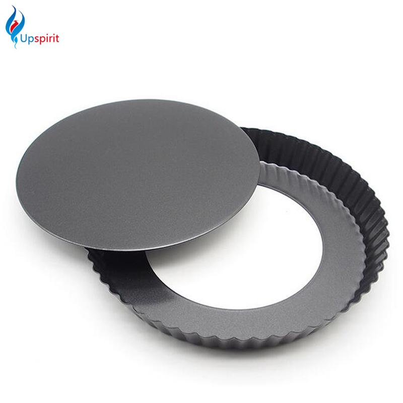 Wholesale- Kitchen Round Carbon Steel Pizza Pan With Removable Bottom Non-Stick 9 Inch Cake Pans Pie Bread Baking Mold Bakeware Tools