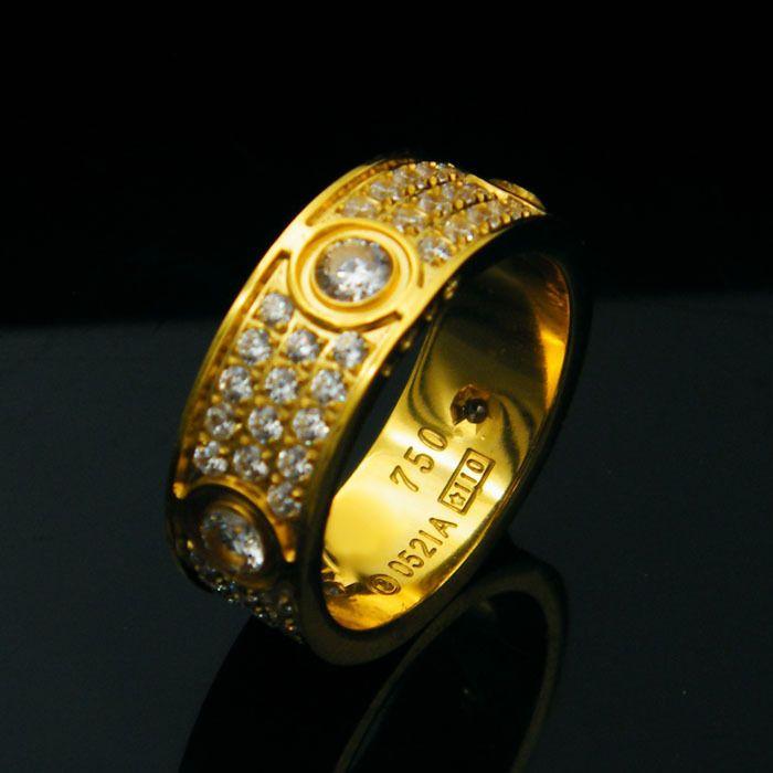 Оптовая продажа титана сталь шесть дрель с алмазной любовью кольца для женщин мужчин Пары Анель кубический цирконий Обручальные кольца полосы Bague Femme