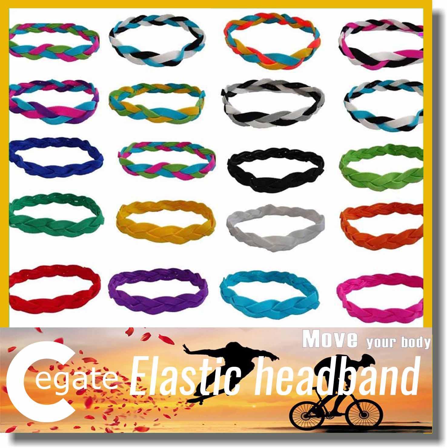 Hot sale Slip Fashion Braided Yoga Headband Sports Elastic Braided Headband for women girl free shipping