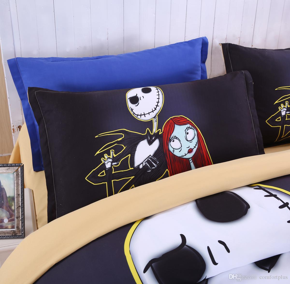 2018 3d Nightmare Before Christmas Duvet Cover Set Quilt Cover Flat ...