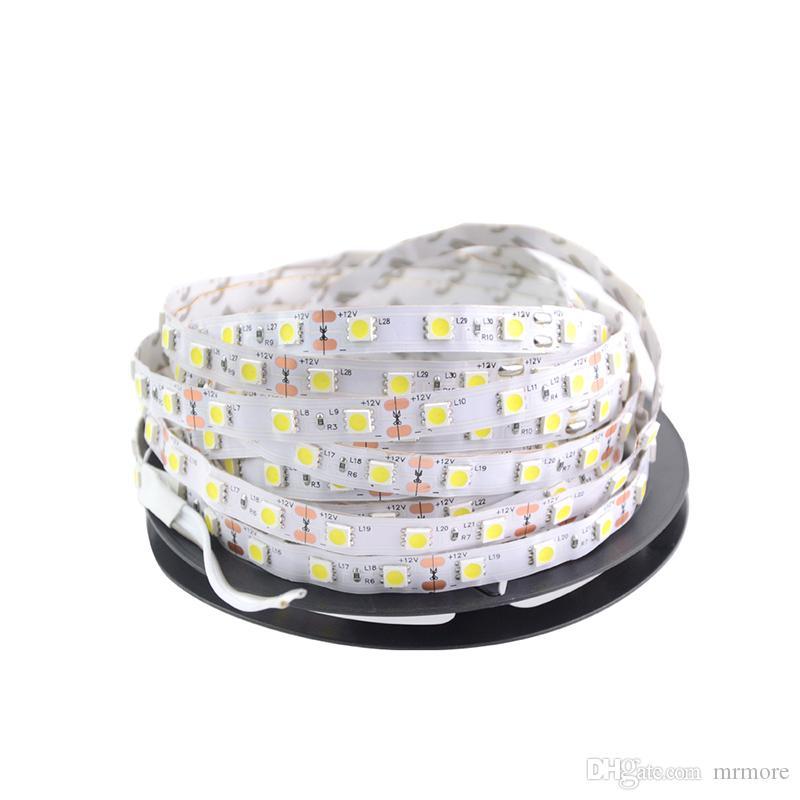 새로운 LED 스트립 빛 5050 DC12V 5M 유연한 RGB 바 라이트 슈퍼 밝기 비 방수 실내 홈 장식 300led