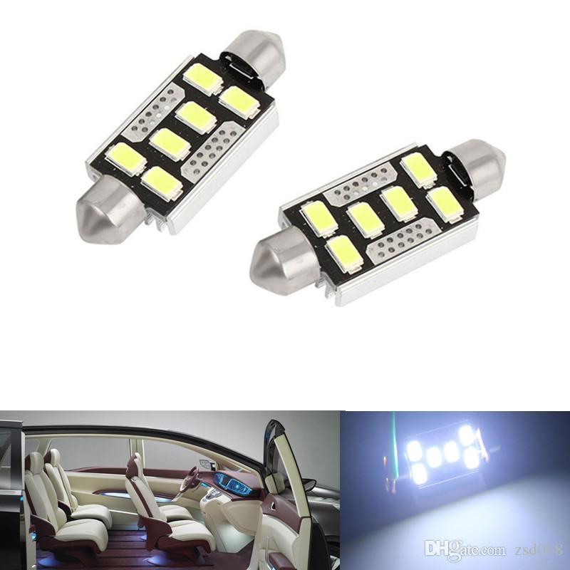 20x ampoules blanches de feston de la voiture LED de 6SMD 31MM 36MM 42MM pour la lumière de carte de dôme de voiture DE3175 DE3022
