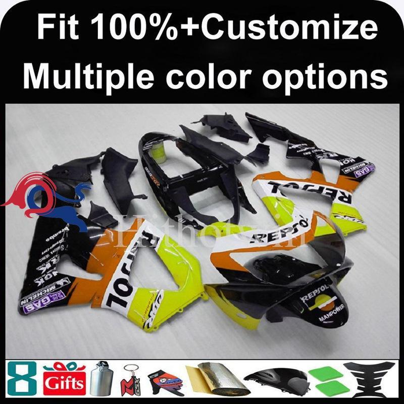 23colors + 8Gifts carenado de la motocicleta molde de inyección para HONDA CBR929RR 2000-2001 CBR929RR 00 01 del carenado del ABS plástico