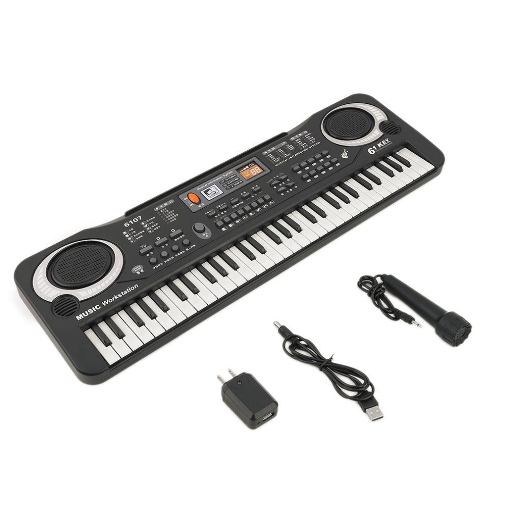 61 مفاتيح لوحة المفاتيح الرقمية الموسيقى الالكترونية هدية لوحة بيانو كهربائي هدية وصول جديدة