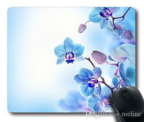 Comfortable Handle Mouse Pad Printed On Purple Iris