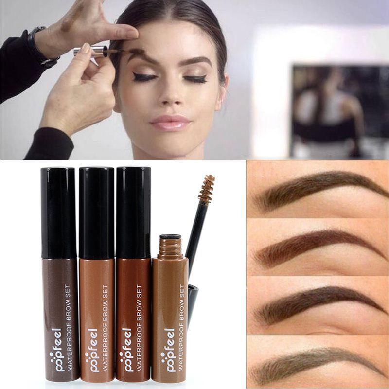 Professional Eye Tint Makeup Cosmetics Long Lasting Natural Black Brown Tint Dye Paint Eyebrows Mascara Color Henna Cream Kit