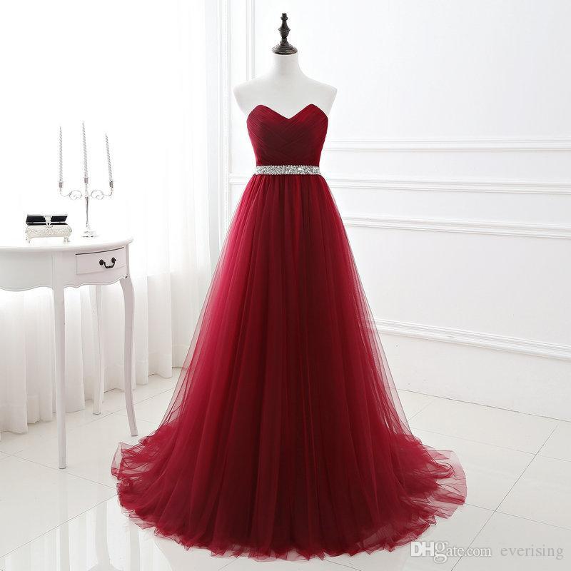 Burgund Brautjungfer Dress Robe Demoiselle d'Honneur Party Kleid Schatz Backless Prom Kleider Vestido Dama de Honra Real Photo