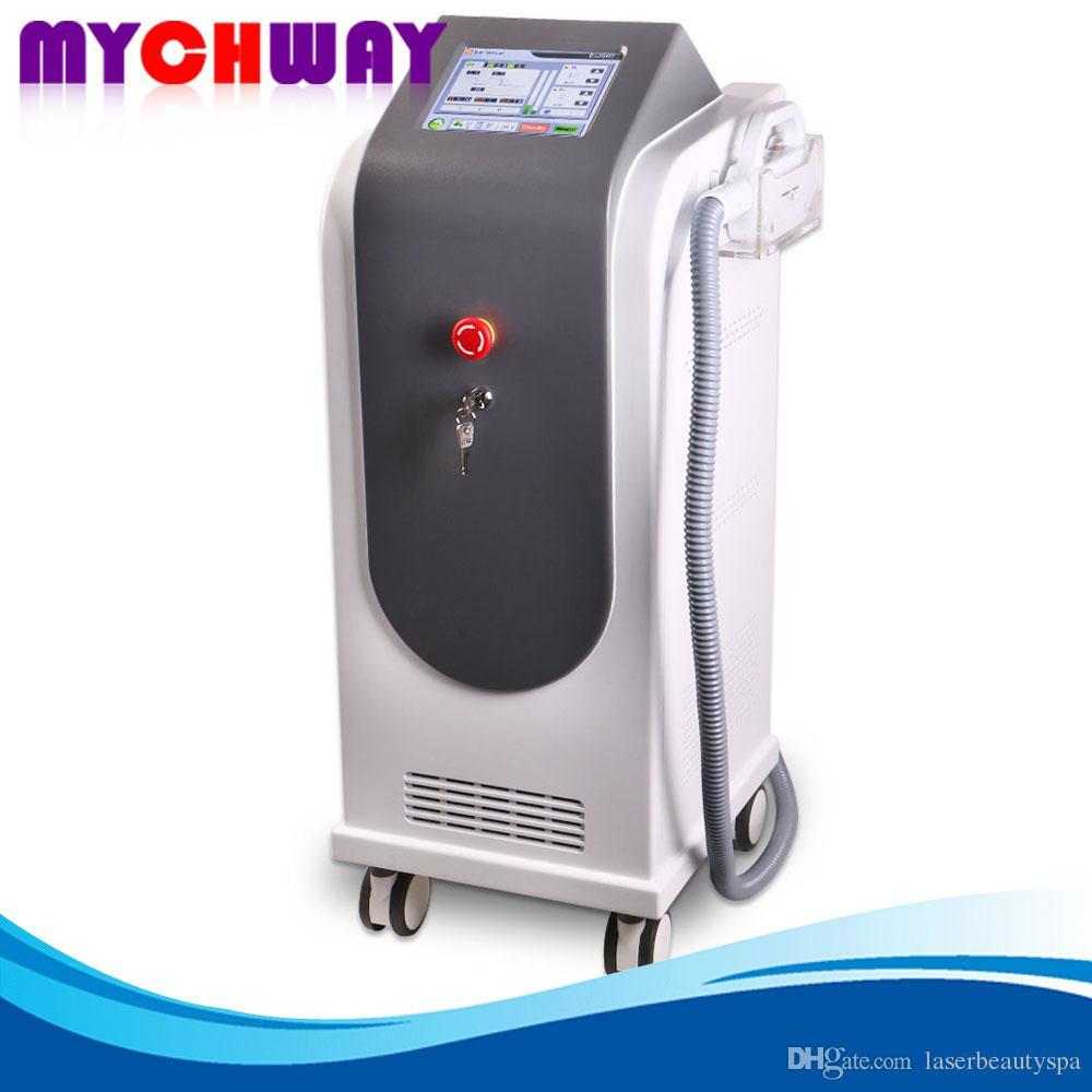 Machine professionnelle de beauté d'E-lumière de chargement initial de rf pour l'épilation et rajeunissement de peau Utilisation de salon de solvant d'acnes de rajeunissement