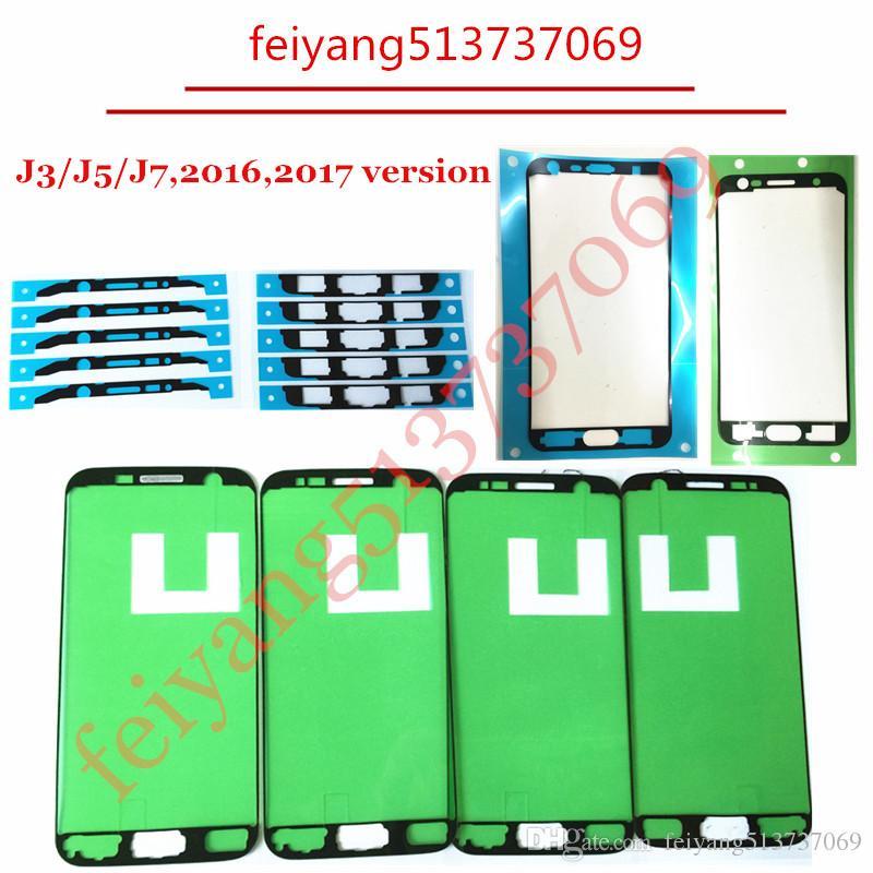 Original-LCD-Bildschirm Feld-Aufkleber Middle Plate Frame Bezel für Samsung Galaxy J3 J5 J7 2016 2017 J300 J500 J310 J510 Reparatur Ersatz