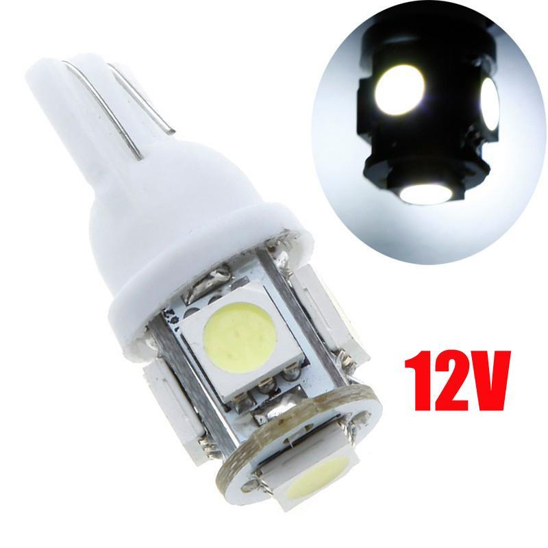 السوبر مشرق الأبيض T10 194 168 2825 501 W5W 5050 5-SMD LED لمبات السيارات الداخلية قبة الجذع Indicatior باب لمبة لوحة ترخيص ضوء DC 12V