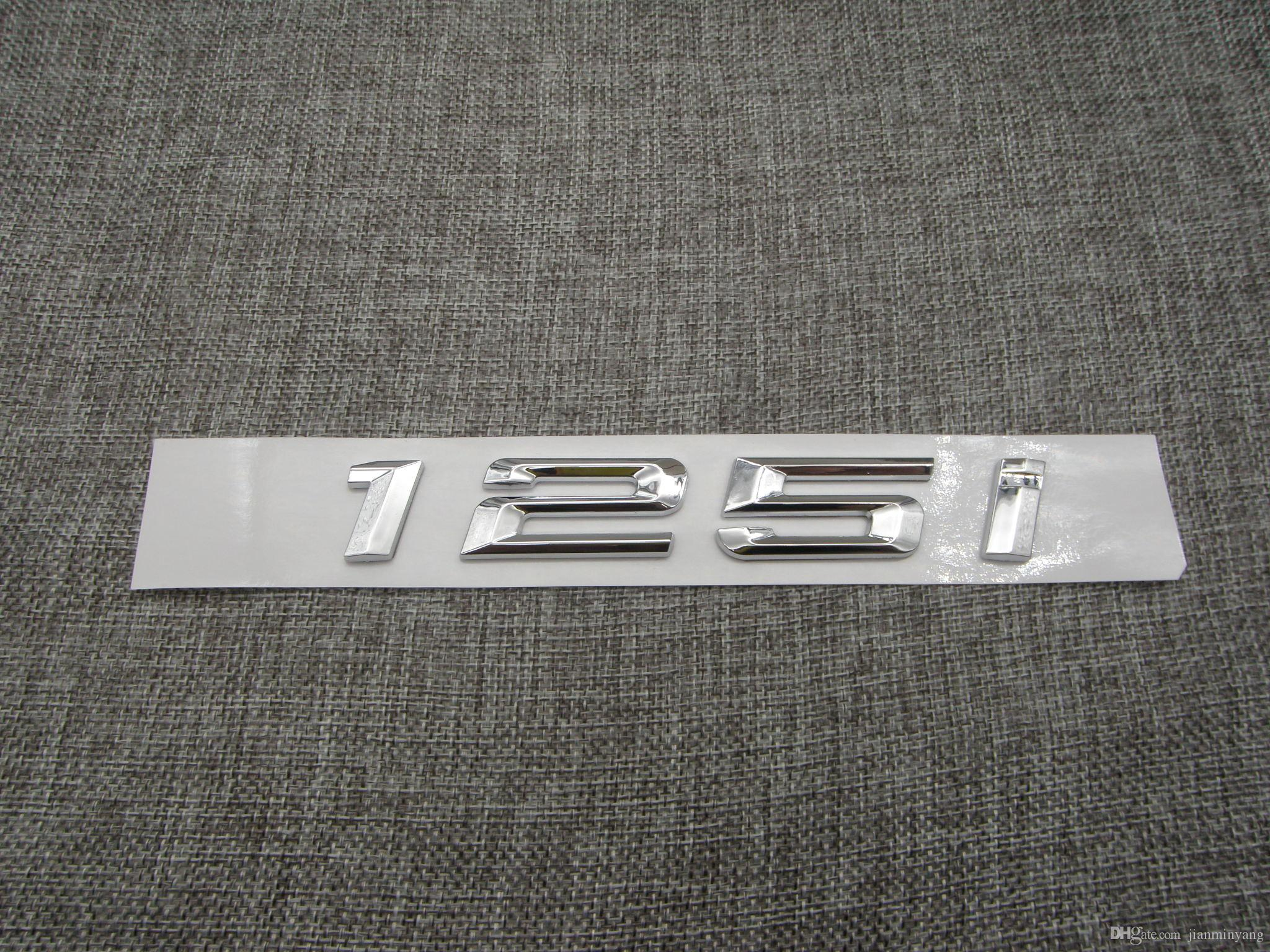 Chrome Letters Trunk Lid Rear Emblem Badge for BMW 1 series 125i