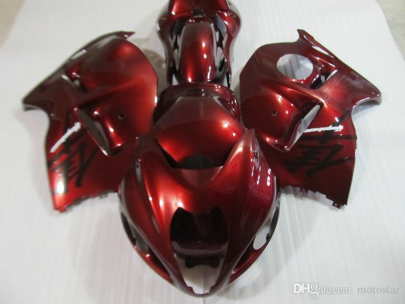 High quality fairing kit for Suzuki GSXR1300 96 97 98 99 00 01-07 wine red fairings set GSXR1300 1996-2007 OT18