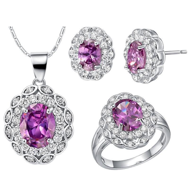 Argento 925 placcato NUOVI abiti personalizzati vestito high-end europei e americani popolari petali di cristallo vestito di diamanti