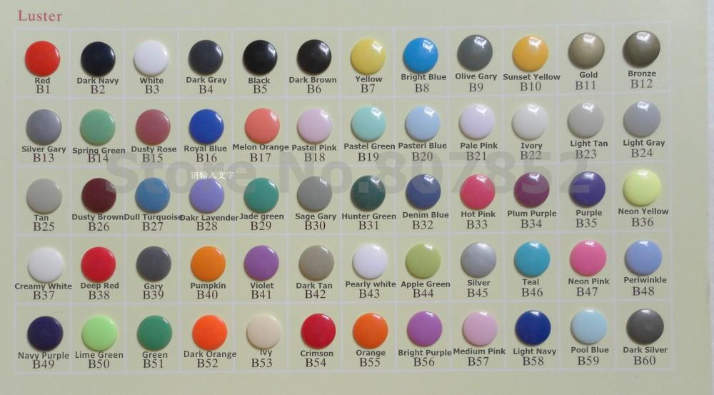 1000sets KAM T3 size 16 10.7mm Diameter Plastic Resin Snaps Buttons Diapper Nappy Fasteners
