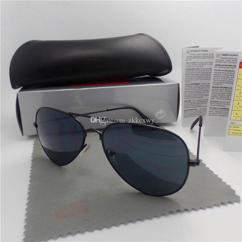 Yüksek Kaliteli Lüks Tasarımcı Güneş Gözlüğü Pilot Moda Ayna Markaları Erkek Kadın Vintage Güneş Gözlükleri Kutusu ve Kılıflar Ile