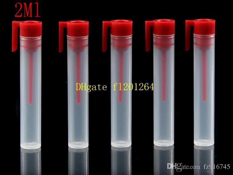 100pcs / lot 무료 배송 2ML 미니 휴대용 플라스틱 리필 Perfume 병 스틱 2CC 빈 샘플 유리 병