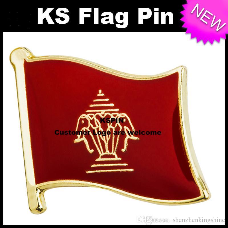 Distintivo 10pcs della bandiera del distintivo della bandierina di Laos trasporto libero KS-0100