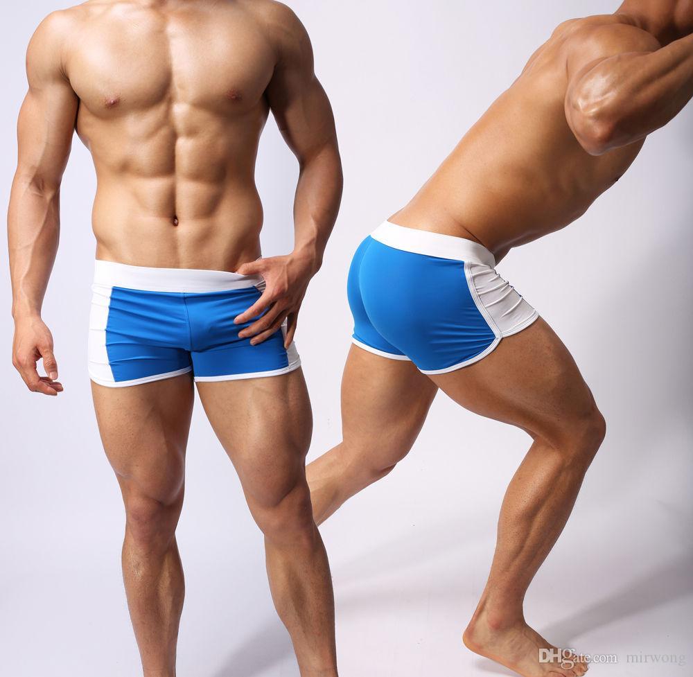 남성용 블루 플랫 수영복 용감한 사람 섹시한 수영복 2013 새로운 트렁크 수영복