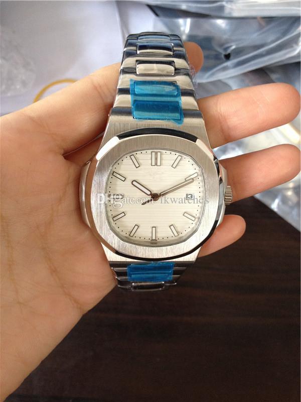 뜨거운 판매 남성 시계 스테인리스 시계 기계 운동 자동 스틸 손목 시계 0025 무료 배송