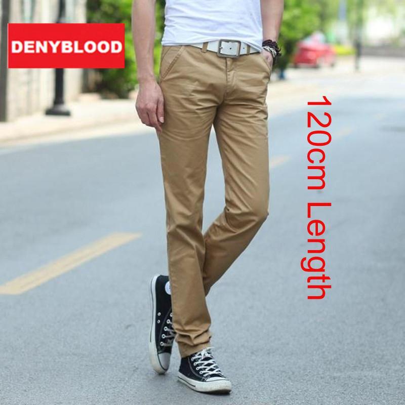 Toptan-120 cm Ekstra Uzun Erkek Chinos Pantolon Artı Boyutu 28 ~ 40 Erkek Rahat Pantolon Düz Taşlı Erkek Dimi Pantolon Haki Siyah 333