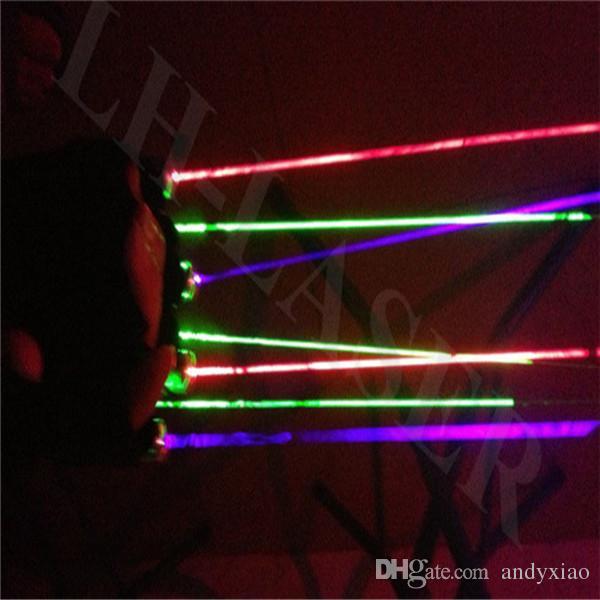 Luvas violetas de Natal laser laser luva para festa dj show halloween outdoor dance