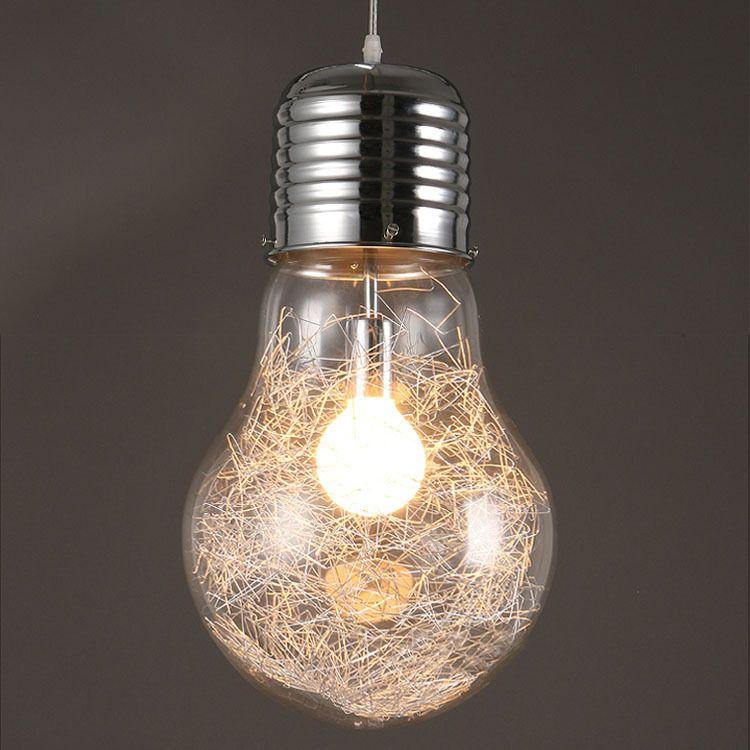 Big Bulb Light Simple Pendent Lights Bulb Pendant Light Dia 15/25/30cm Pendent Lamp Milk White Color E27 Bulb