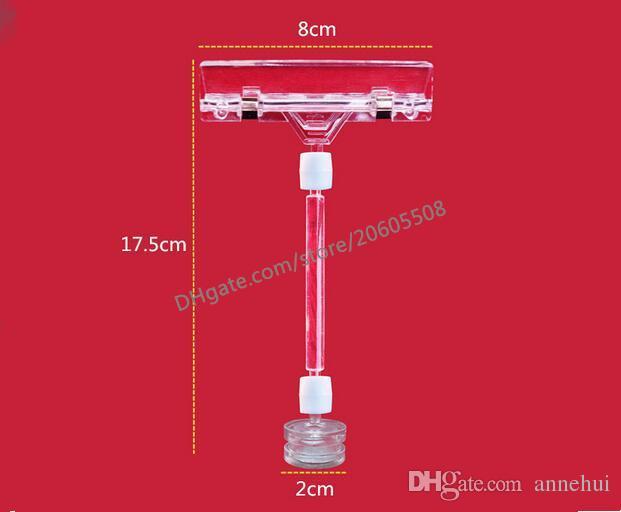 Hot sale 20pcs Strong magnetic Transparent Plastic pop clamp Sign Paper Memo Card Holder Display POP Promotion Clips label holder
