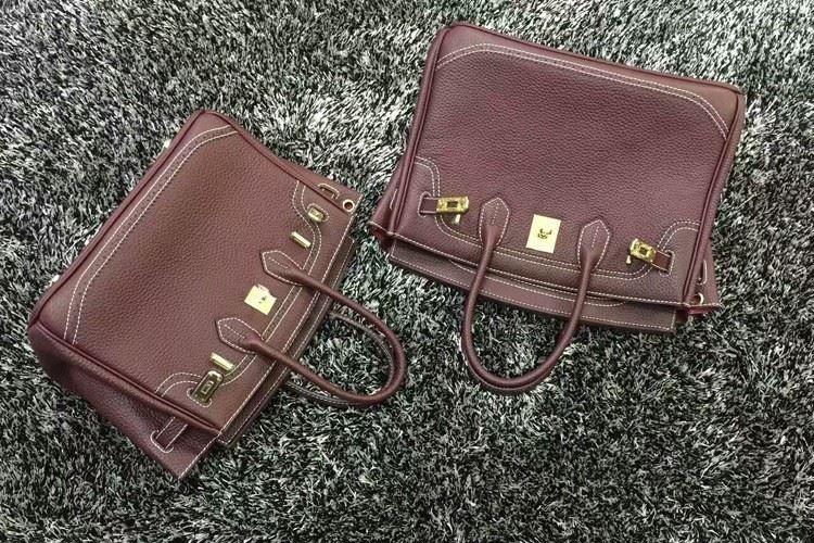 2016 Luxury H Handbag Women\`s Litchi Cowhide Messenger Bag Genuine Leather Famous Designer Shoulder Crossbody Totes Ladies Bolsa (11)