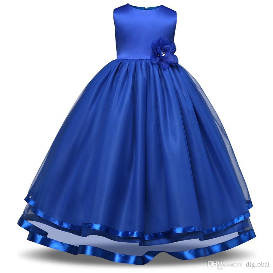 Großhandel Wunderschöne Prinzessin Prom Dance Dress Geburtstagsparty Kinder  Mädchen Kleider Kinderkleidung Für Teenager Mädchen Kleidung Von Dlglobal,