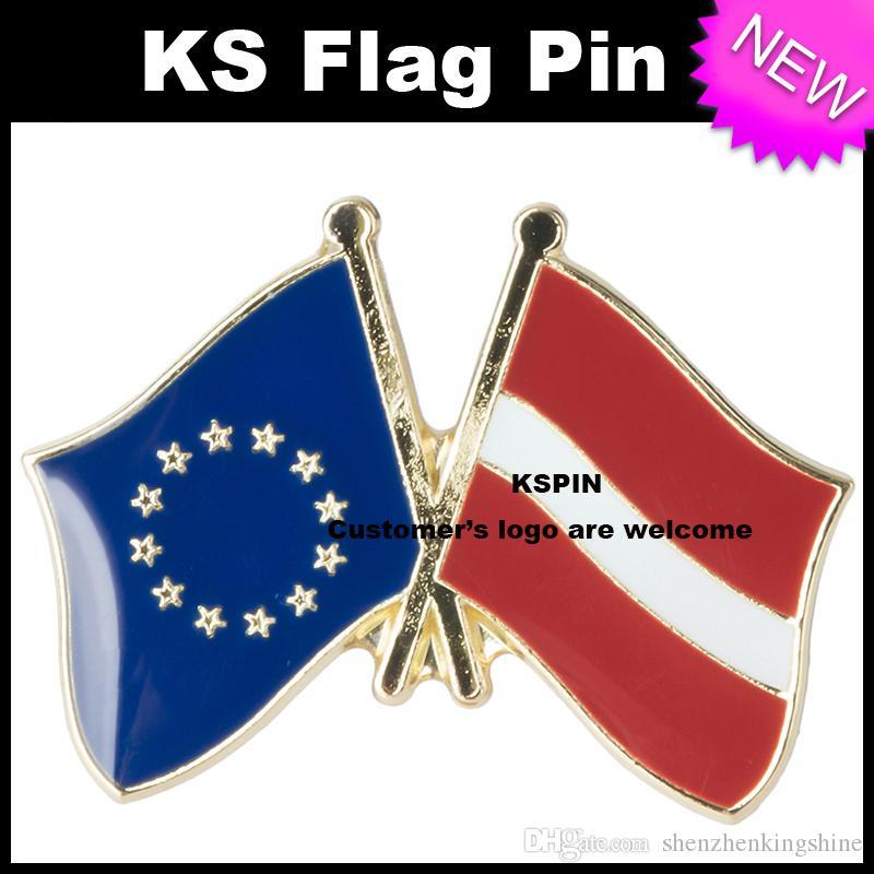 Distintivo 10pcs della bandiera della bandiera della Lettonia dell'Unione Europea molto trasporto libero XY0081