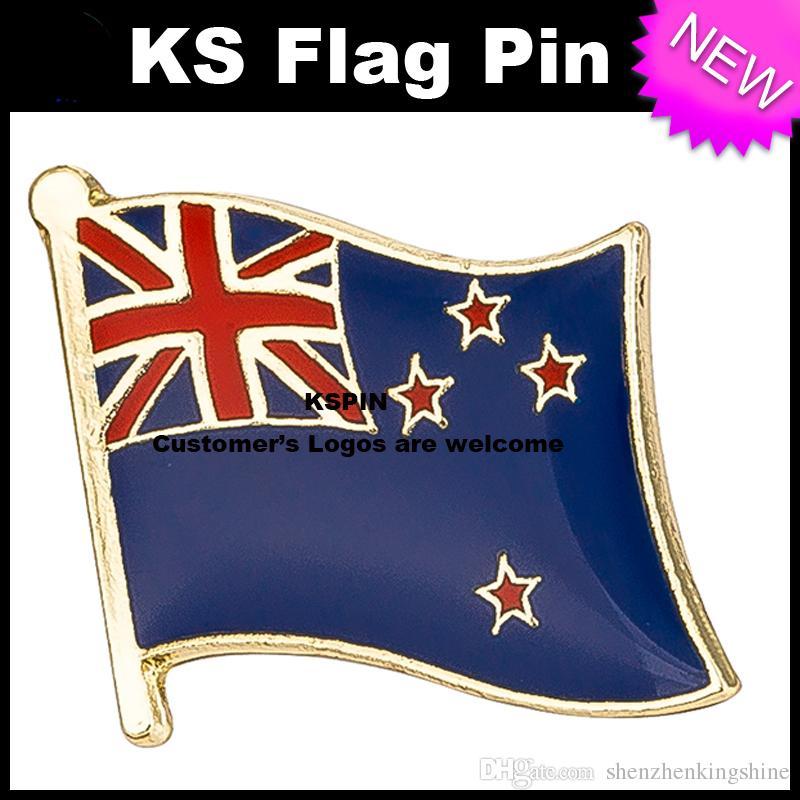 La bandierina 10pcs della bandiera del distintivo della bandierina della Nuova Zelanda molto libera il trasporto KS-0193
