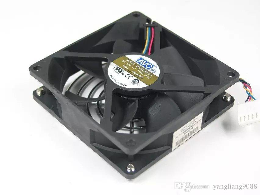 Free Shipping For AVC DS09225B12U, P178 DC 12V 0.56A 4-wire 4-Pin connector 100mm 90x90x25mm Server Square Cooling fan