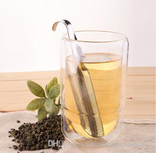 ステンレススチールコーヒーティーストレーナーアメージングステンレススチールティーインフューザーパイプデザインタッチお茶ツール