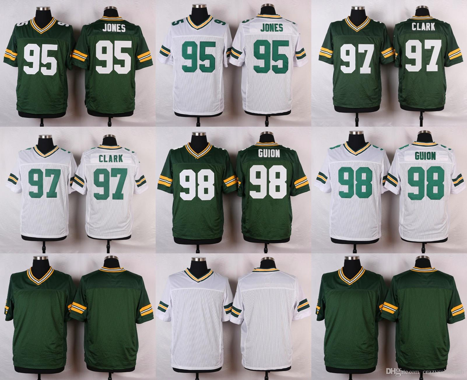 2017 2017 Mens Elite 95 Datone Jones 97 Kenny Clark 98 Letroy Guion Youth Green  Bay Packers ... 66d5ae86a